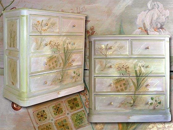 meuble peint une commode jardin la fran aise. Black Bedroom Furniture Sets. Home Design Ideas